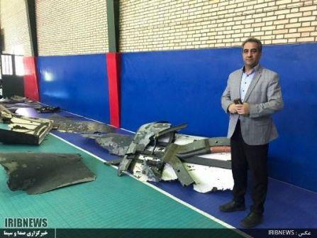 طهران تنشر صورا لحطام الطائرة الأمريكية