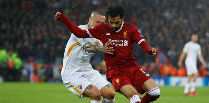 شاهد :روما يفسد احتفال ليفربول بالخماسية ويشعل موقعة الإياب