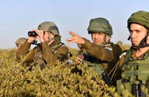 رئيس الاركان الاسرائيلي الجديد يظهر على حدود غزة