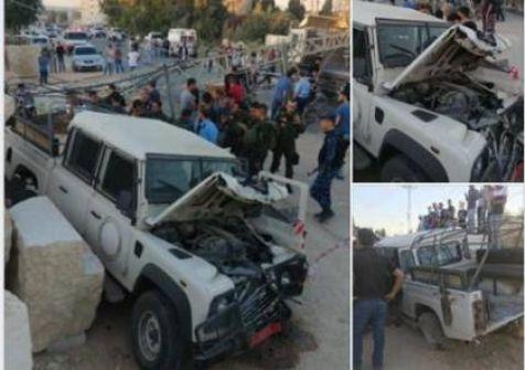 استشهاد ثلاثة رجال امن اثر حادث سير في جنين