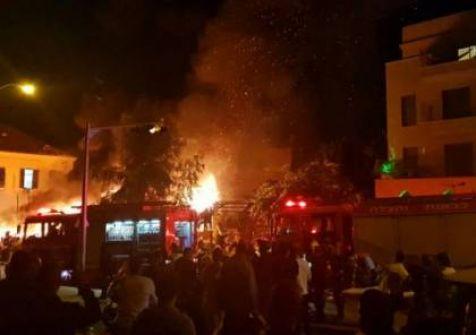 صور..مقتل 4 أشخاص وإصابة أكثر من 15 فى انفجار بمدينة يافا