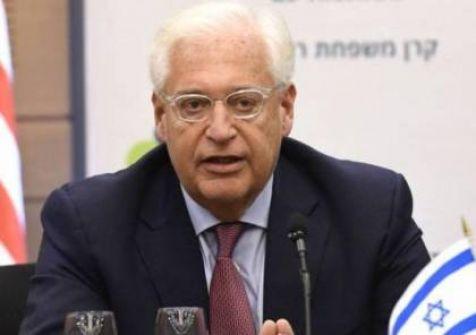 فريدمان: هناك قنوات خلفية مع السلطة الفلسطينية وحكومتها حول خطة ترامب..