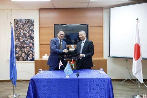 اليابان تتبرع بمبلغ 420 مليون ين  لدعم برنامج المساعدات الغذائية للاجئي فلسطين في غزة