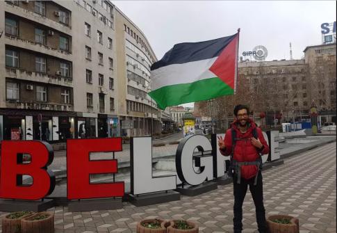 4800 كيلو متر لدعم الفلسطينيين